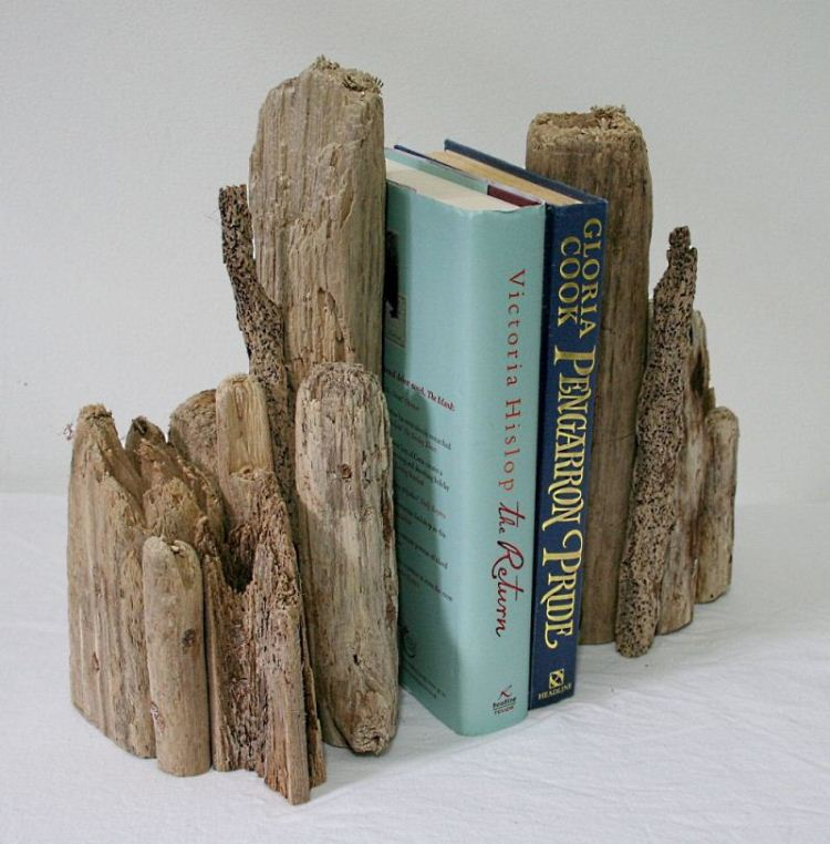 Driftwood Book Ends