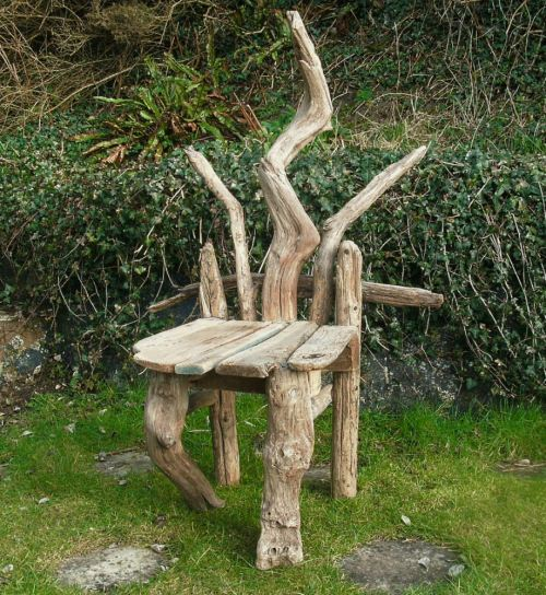 Driftwood chair for Driftwood tables handmade