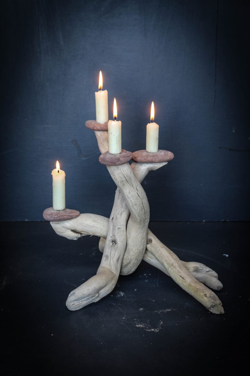 Driftwood Candle Holder 2