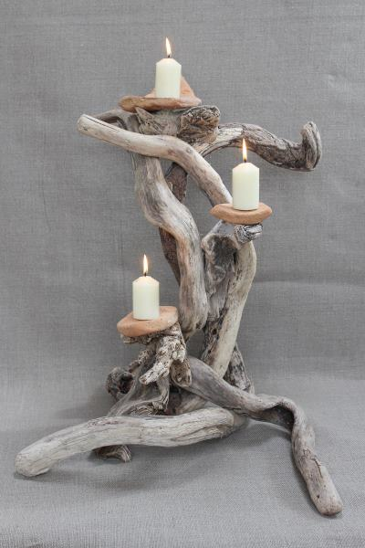 Driftwood Candle Holder